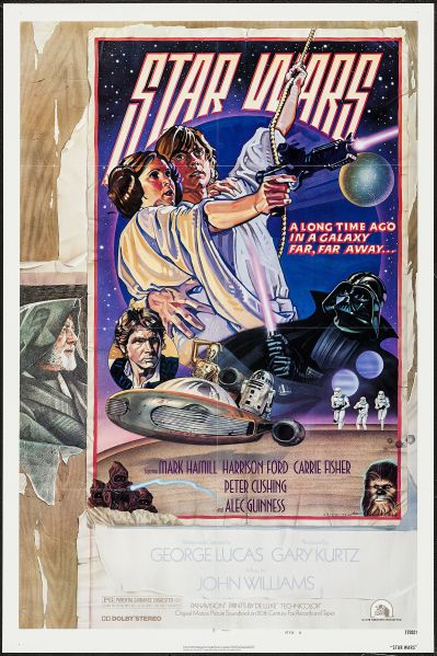 """Star Wars (20th Century Fox, 1977). One Sheet (27"""" X 41"""") Style D. (Photo: Heritage Auctions)"""
