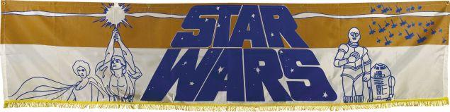 "Star Wars (20th Century Fox, 1977). Silk-Screen Banner (26"" X 104""). (Photo: Heritage Auctions)"