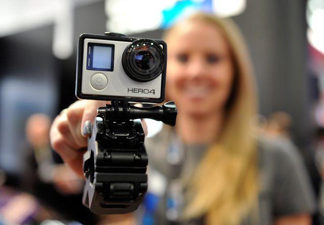 A GoPro Hero 4 camera