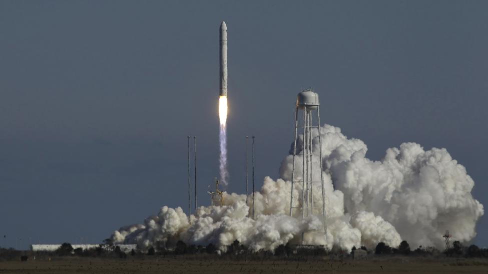 An Orbital ATK Antares Rocket being tested as NASA's Wallops facility (Credit: NASA)