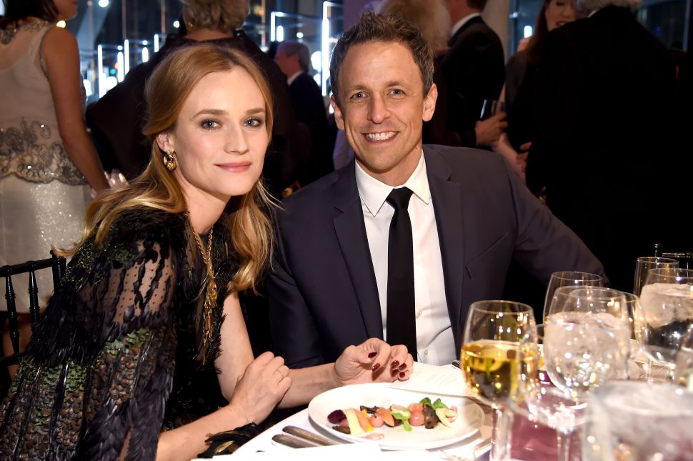 Diane Kruger, Seth Meyers (Dimitrios Kambouris for Getty Images).