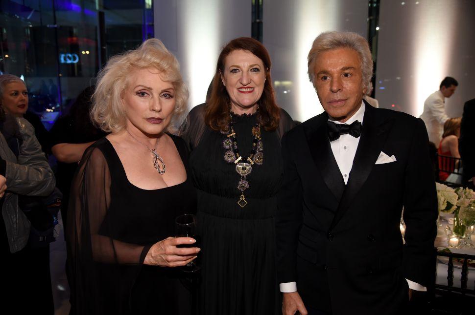 Debbie Harry, Glenda Bailey, Giancarlo Giametti (Photo: Dimitrios Kambouris for Getty Images).