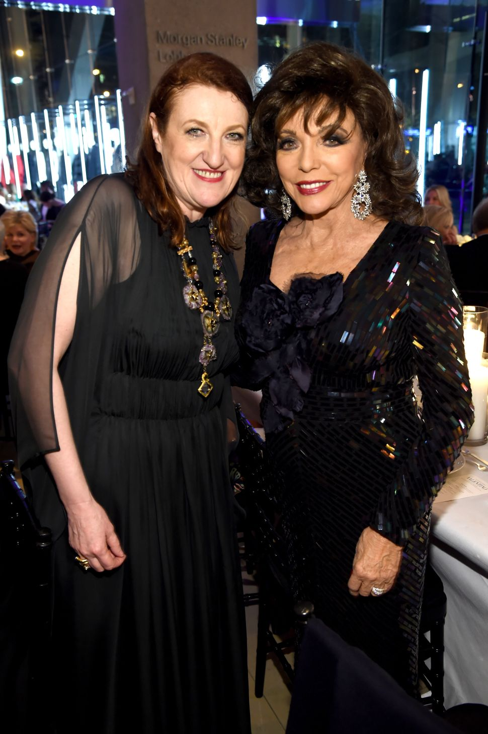 Glenda Bailey, Joan Collins (Photo: Dimitrios Kambouris for Getty Images).