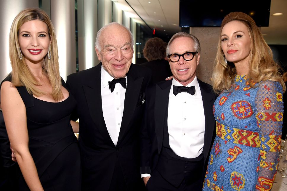 Ivanka Trump, Leonard Lauder, Tommy Hilfiger, Dee Ocleppo (Photo: Dimitrios Kambouris for Getty Images).