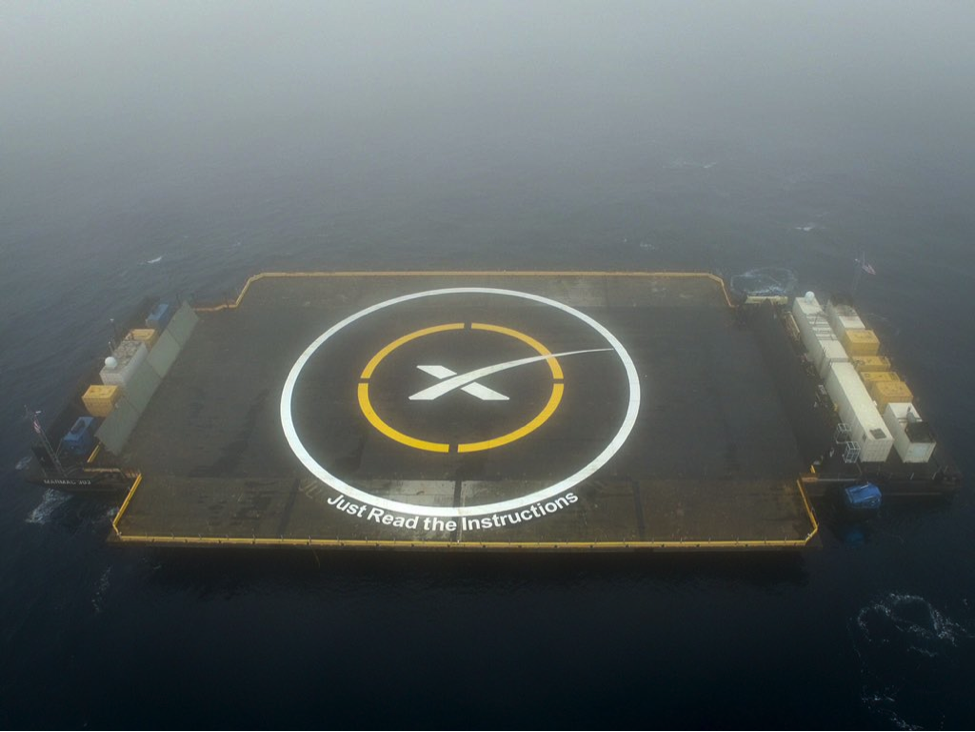 SpaceX's drone ship Just Read The Instructions (Credit: SpaceX)