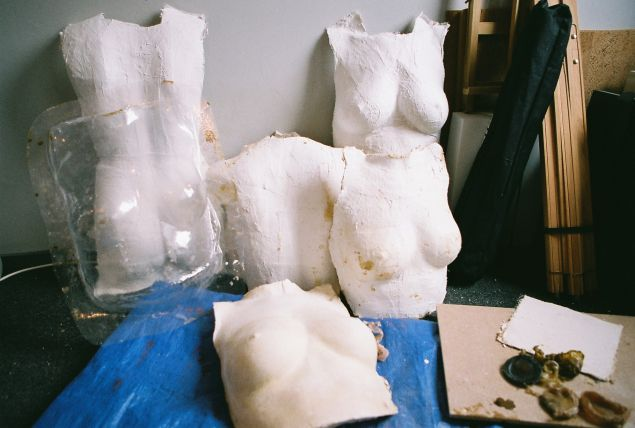 Casts of Ms. Wagermans' torso. (Photo: Esmay Wagermans)
