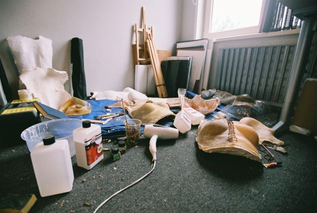 The artist's room during the project. (Photo: Esmay Wagermans)