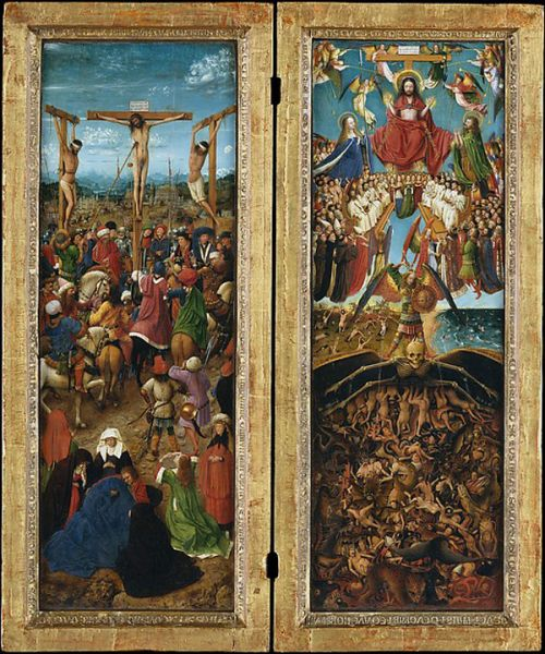 Jan van Eyck and Workshop, The Crucifixion; The Last Judgment, Ca. 1440–41. (Courtesy of the Metropolitan Museum of Art)