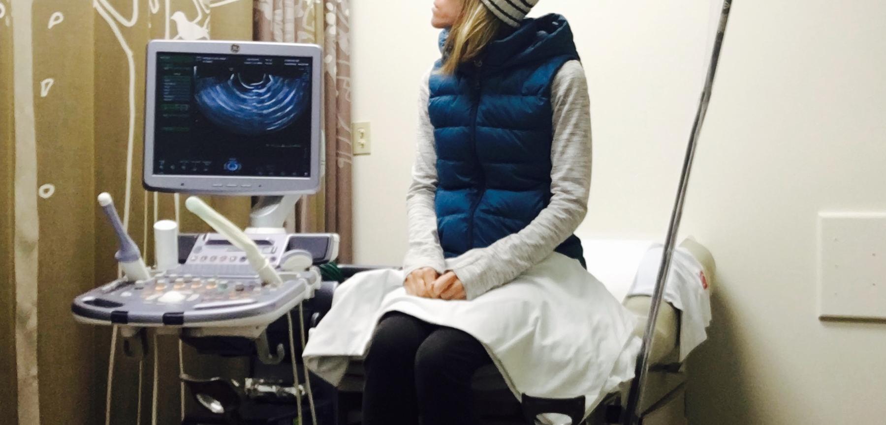 Day 7 of hormonal stimulation: ultrasound.