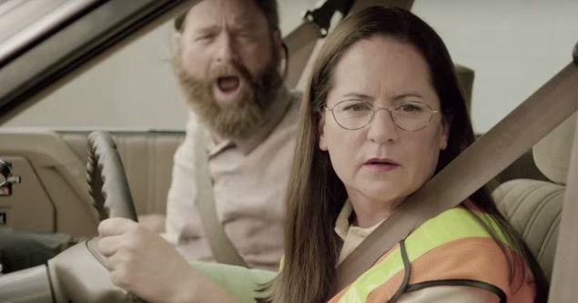 Zach Galifianakis and Martha Kelly.