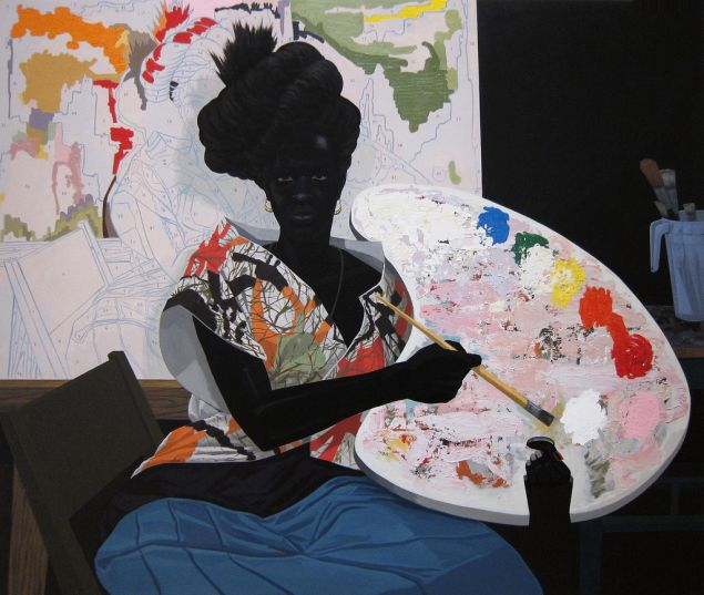 Kerry James Marshall's Untitled, 2009, which is in the collection of the Yale University Art galleries. (Photo: Courtesy of U of L University Libraries)