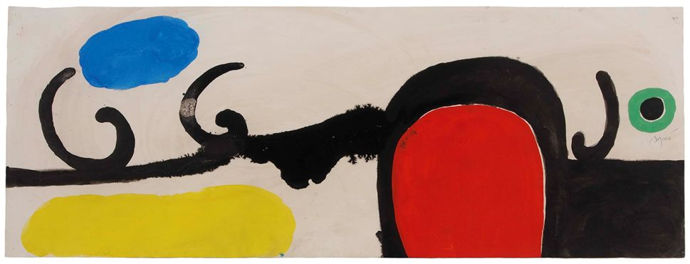 Joan Miró, Untitled I, 1970, Gouache and Indian ink on paper. (Photo: Courtesy of Mayoral)