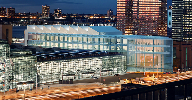 A rendering of the proposed expansions for the Jacob Javits Center.  (Rendering: Gov. Andrew Cuomo's Office via Flickr)