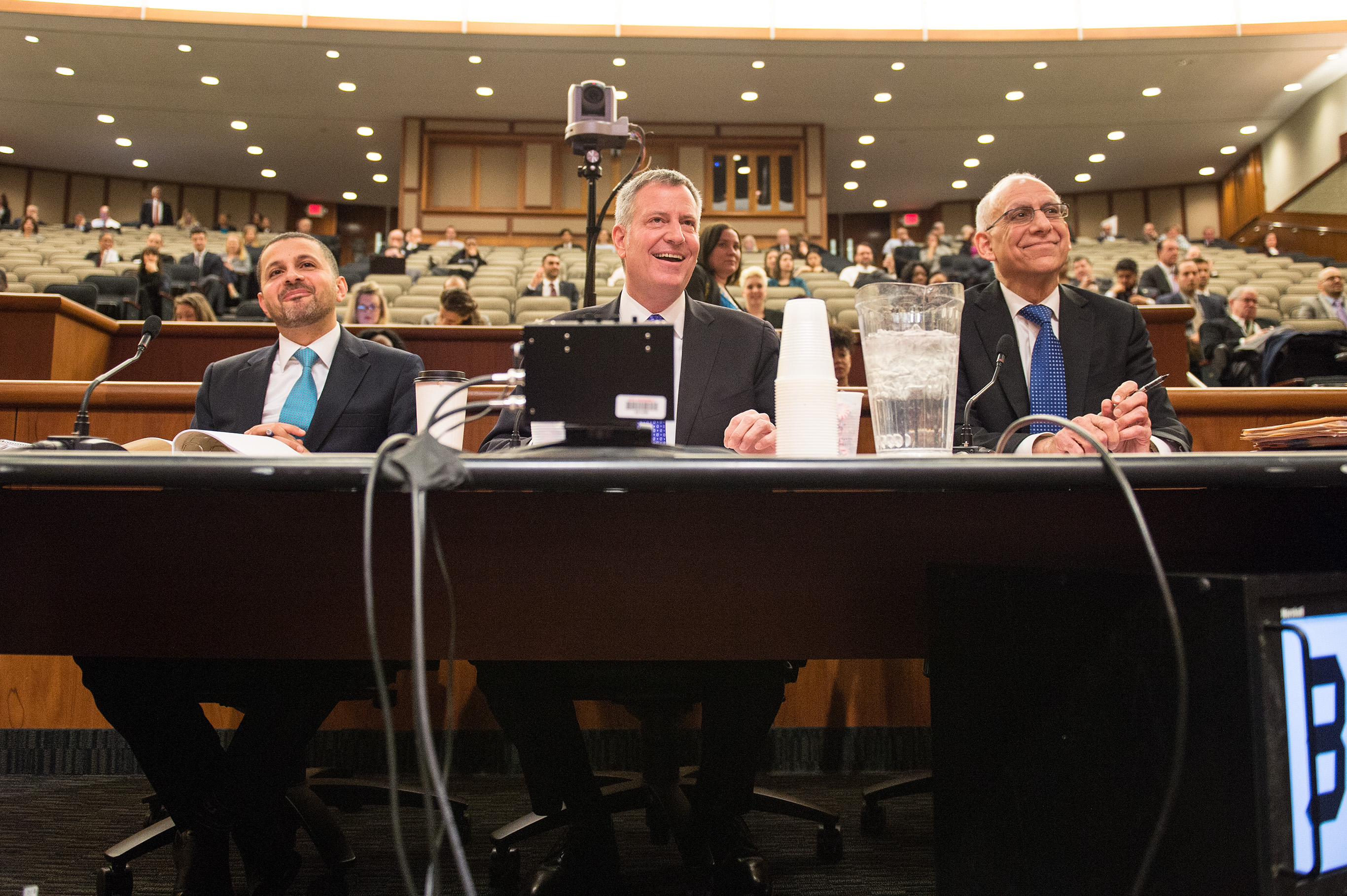 Mayor Bill de Blasio testifies during a state budget hearing at the Legislative Office Building in Albany, New York Tuesday, January 26, 2016. (Photo: Ed Reed/Mayoral Photography Office)