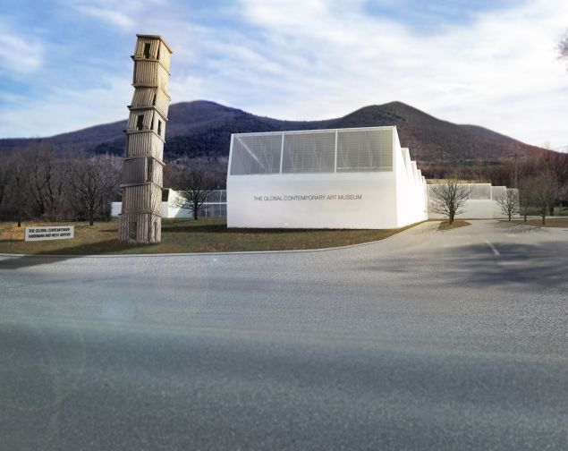 Renderings of the Global Contemporary Art Museum (GCAM) in North Adams, Massachusetts. (Photo: © Gluckman Tang Architects)