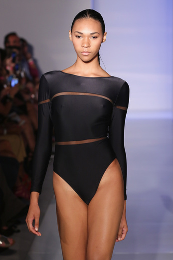 Description - MIAMI BEACH, FL - JULY 19: A model walks the runway at the Runway Australia featuring Jewels + Grace + Allerton fashion show during SWIMMIAMI at 1 Hotel South Beach Salon on July 19, 2015 in Miami Beach, Florida. (Photo by Alexander Tamargo/Getty Images for SWIMMIAMI)