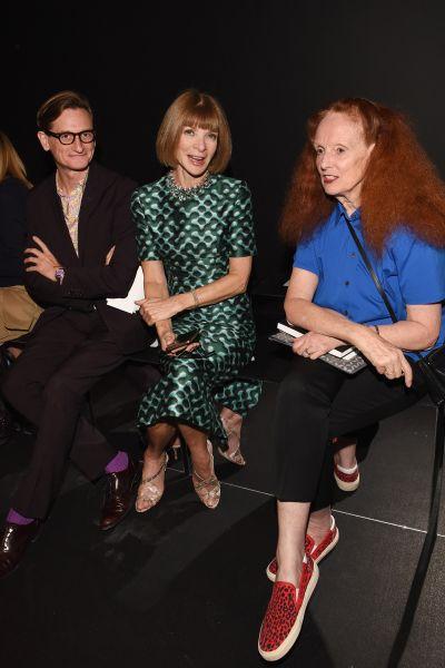 Hamish Bowles, Anna Wintour, Grace Coddington (Photo: Getty Images).