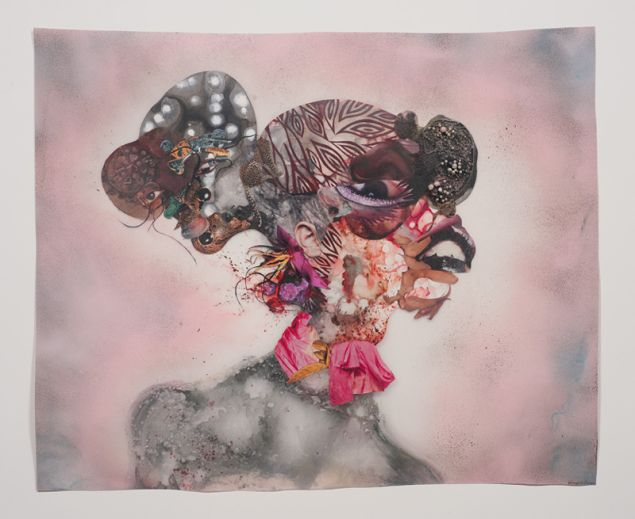 Wangechi Mutu, Pretty Double-Head, 2010. Collection of Blake Byrne. (Courtesy of the artist and Susanne Vielmetter Los Angeles Projects. Photo credit: Robert Wedemeyer)