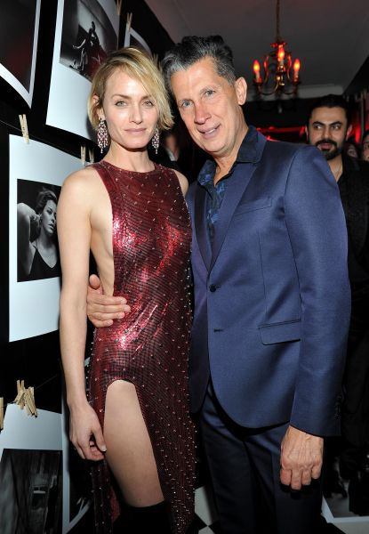 Actress Amber Valletta (L) and W Magazine Editor in Chief Stefano Tonchi (R)(Photo: Donato Sardella/Getty Images for W Magazine)
