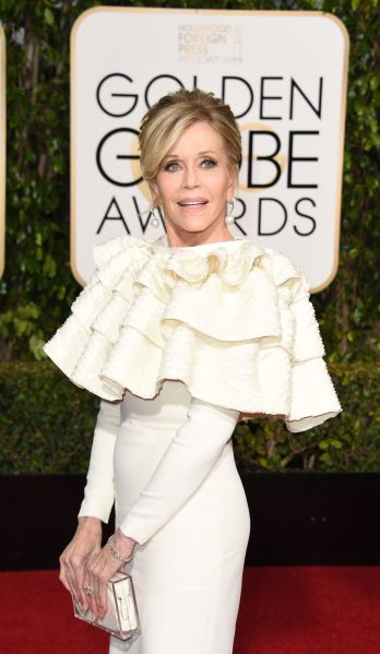 Jane Fonda in Yves Saint Laurent Couture (Photo: Valerie Macon/AFP/Getty Images).