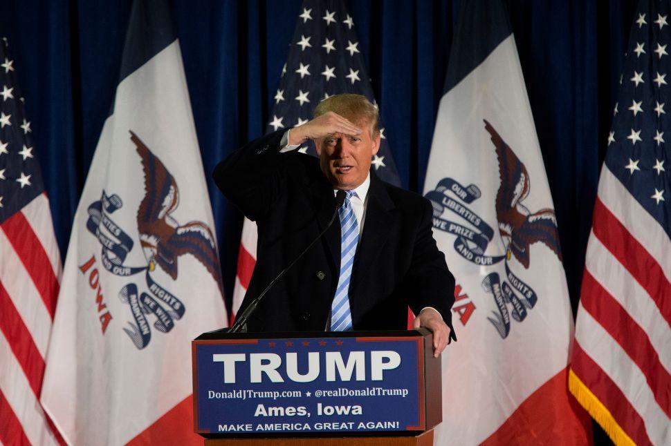 Donald Trump speaking in Iowa. (Photo: Aaron P. Bernstein/Getty Images)