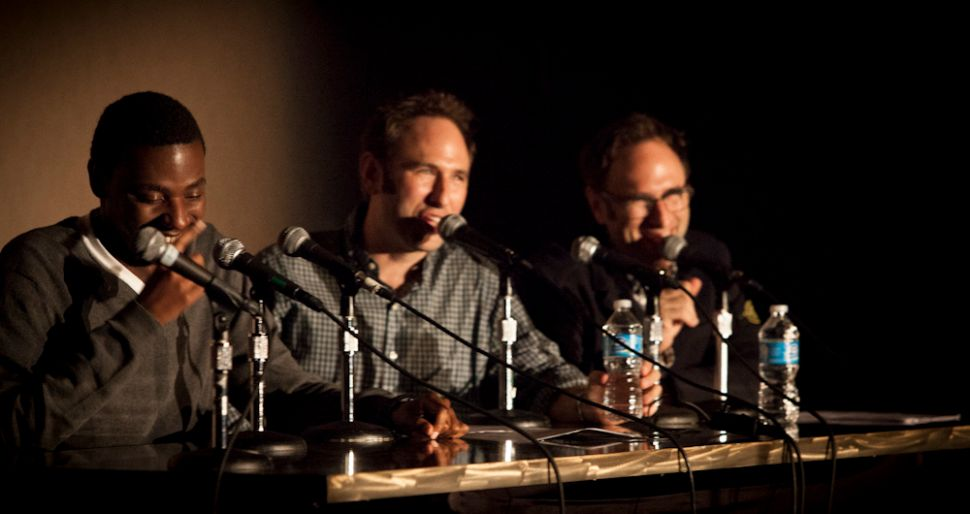 Sklarboro Country, a major podcast with its archives on the Howl FM app, taping an episode at LA Pod Fest. (Photo: Joel Mandelkorn / Creative Commons)