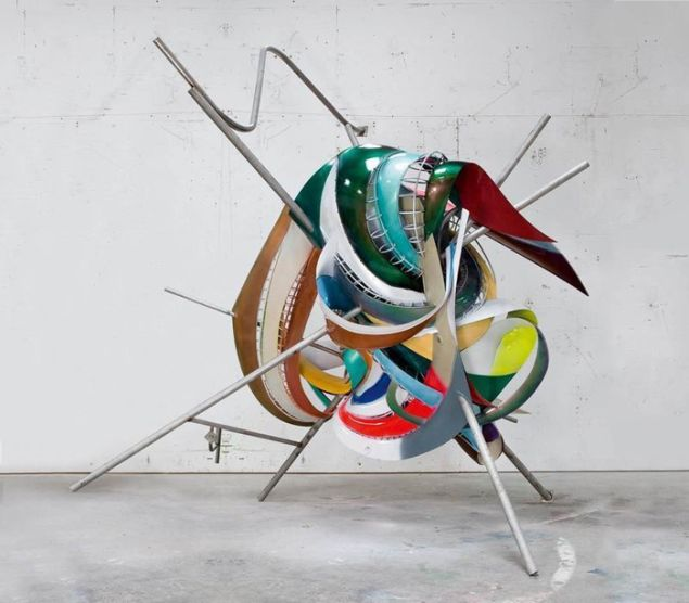 Frank Stella, K.81 combo (K.37 and K.43) large size, 2009. Private collection. (© 2015 Frank Stella/Artists Rights Society, New York)