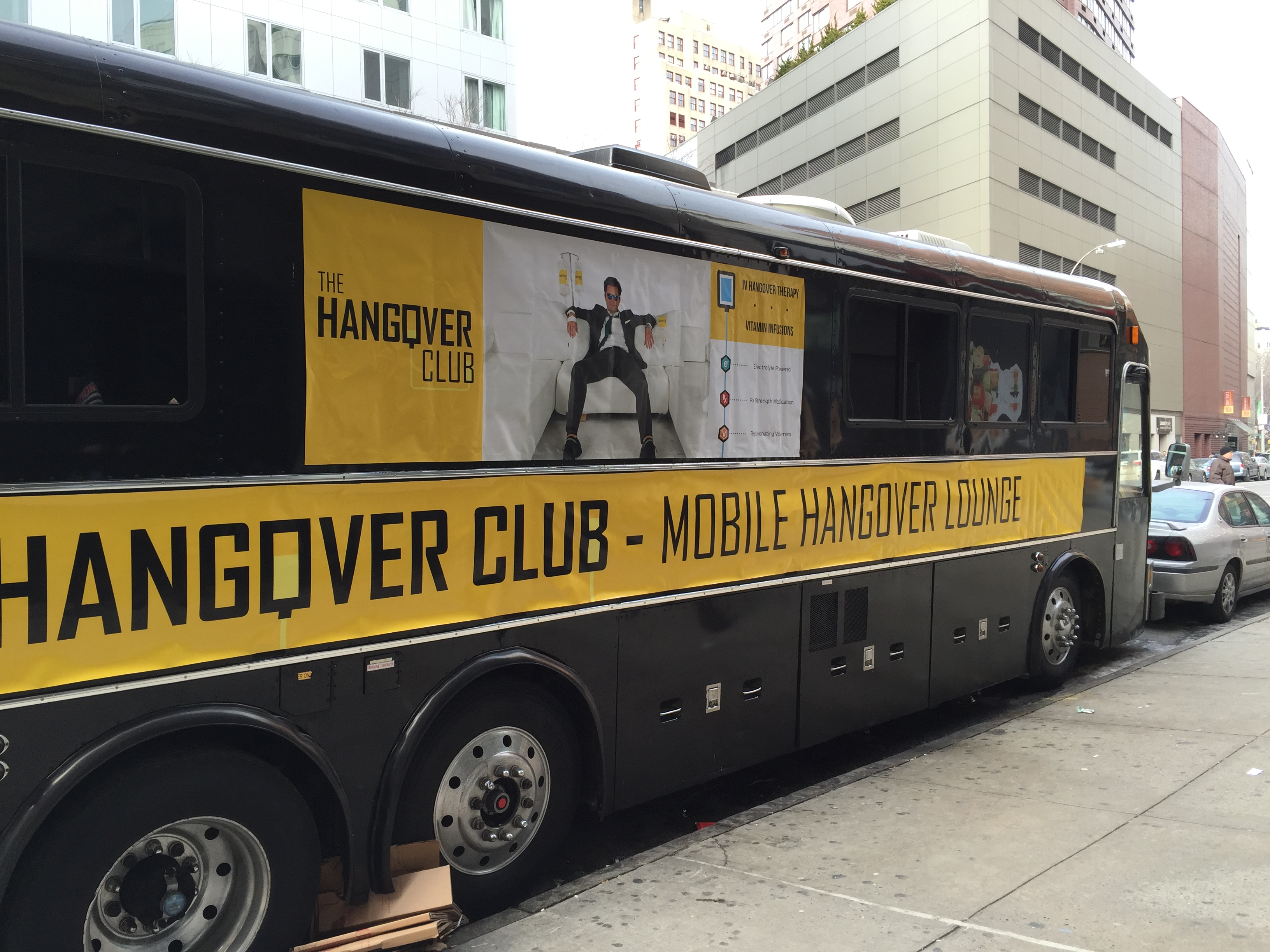 The Hangover Club is similar to Seamless, delivering hangover cures via IV to people's homes (Photo: Courtesy The Hangover Club).