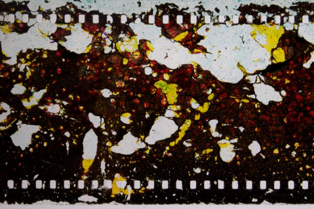 Jennifer West Salt Crystals Spiral Jetty Dead Sea Five Year Film (film still) 2013. (Photo: Courtesy of Lisa Cooley)