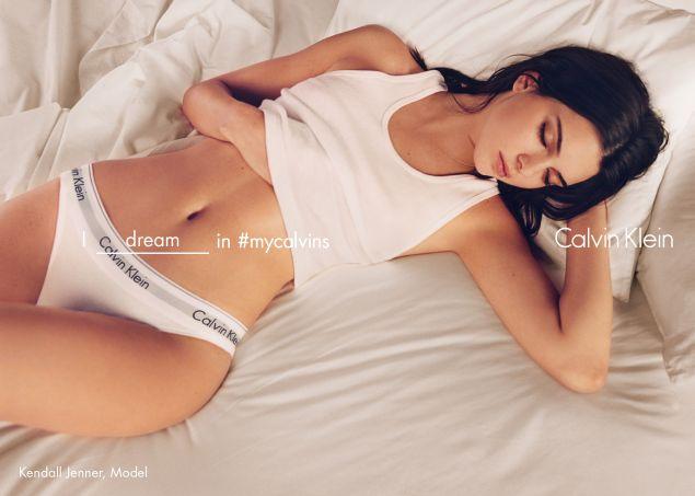 Kendall Jenner strips down in Calvin Klein (Photo: Courtesy Calvin Klein).