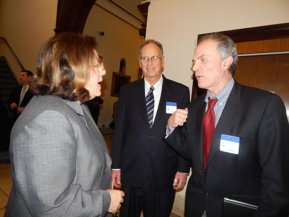 Senator Linda Greenstein, and ELEC's Jeff Brindle and Joe Donohue