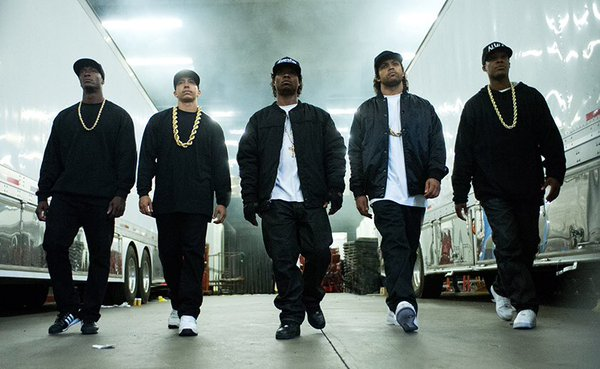 The white screenwriters of Straight Outta Compton were nominated for Oscars, but none of the film's minority actors were. (Photo: Twitter)