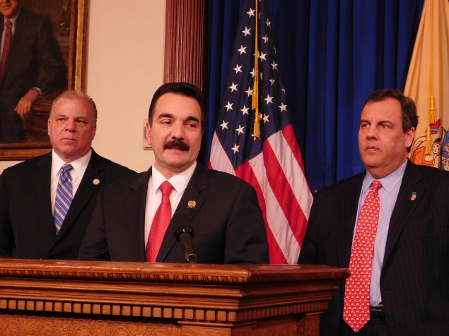 Senate President Steve Sweeney and Assembly counterpart Vince Prieto are again sending their pension payment plan to Governor Chris Christie's desk.