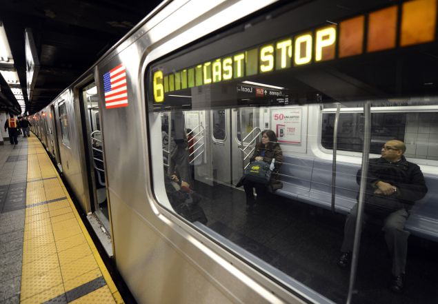 The 6 Train. (Photo: Timothy A. Clary for AFP/Getty Images).