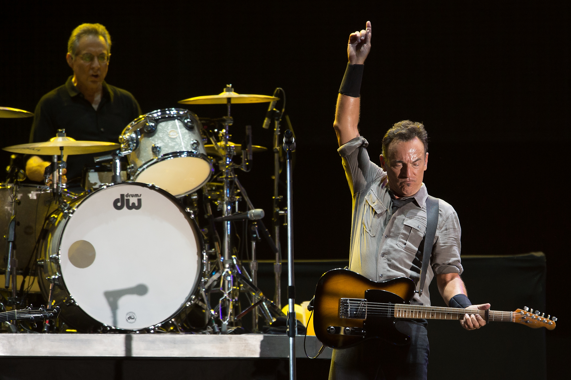 Bruce Springsteen performs on stage during a concert in the Rock in Rio Festival on September 21, 2013 in Rio de Janeiro, Brazil. (Photo: Buda Mendes/Getty Images)
