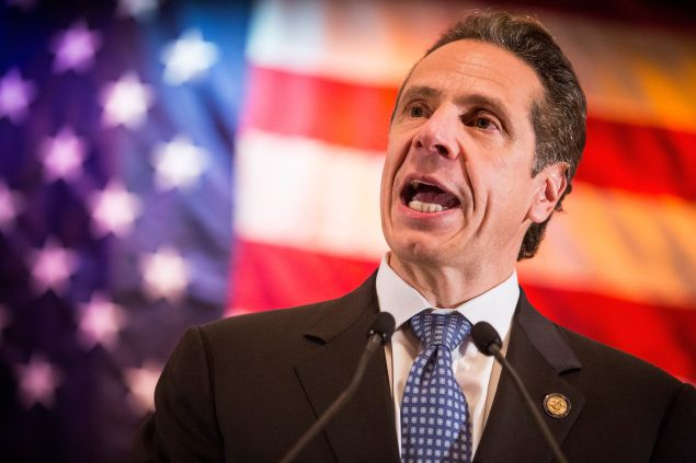 NEW YORK, NY - OCTOBER 30: New York State Governor Andrew Cuomo speaks at an event to support his reelection on October 30, 2014 in New York City. Citizens go to the polls next Tuesday, November 4. (Photo by Andrew Burton/Getty Images)