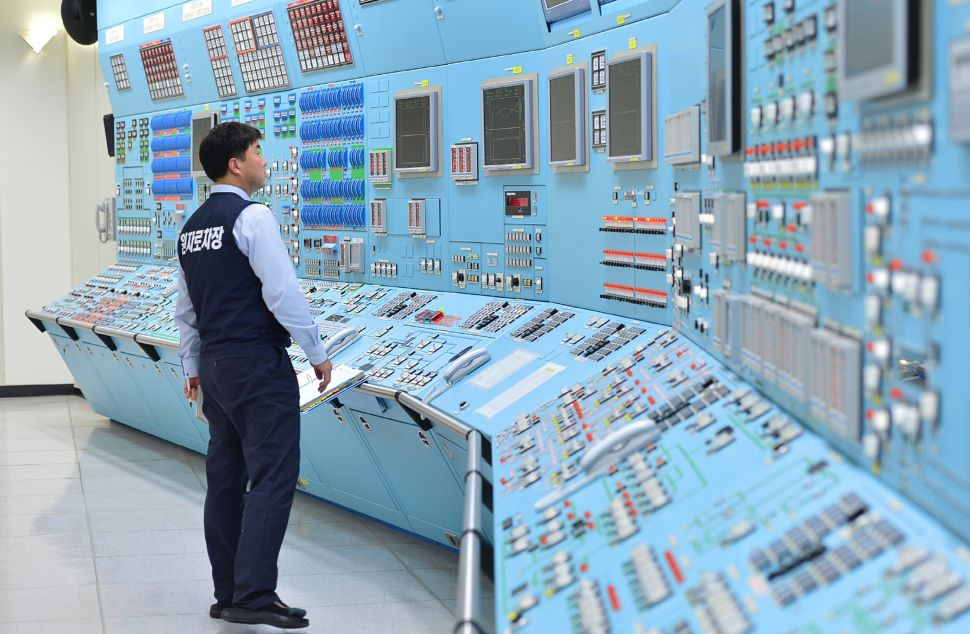 "GYEONGJU, SOUTH KOREA - DECEMBER 22: In this handout provided by the Korea Hydro and Nuclear Power Co., Workers of the Korea Hydro and Nuclear Power Co. participate in anti cyber attack exercise at Wolsong power plant on December 22, 2014 in Gyeongju, South Korea. The state-run nuclear power plant operator Korea Hydro and Nuclear Power Co (KHNP) ran simulation drills today to prepare for more cyber-attacks after their data were leaked on a blog and to a Twitter account under the profile ""president of anti-nuclear reactor group."" The identity of hacker remains unknown. (Photo by Korea Hydro and Nuclear Power Co. via Getty Images)"