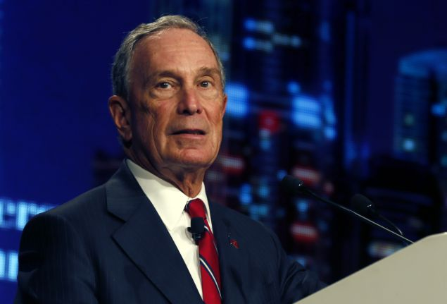 "Former New York City mayor Michael Bloomberg gives a speech during a ceremony to attribute ""Philanthropies Awards for Global Tobacco Control"" on the second day of the 16th World Conference on Tobacco or Health on March 18, 2015 in Abu Dhabi. Billionaire philanthropists Michael Bloomberg and Bill Gates launched the joint Anti-Tobacco Trade Litigation Fund to support developing countries passing tobacco-control laws in their legal battle with the industry giants. AFP PHOTO / STR (Photo credit should read -/AFP/Getty Images)"