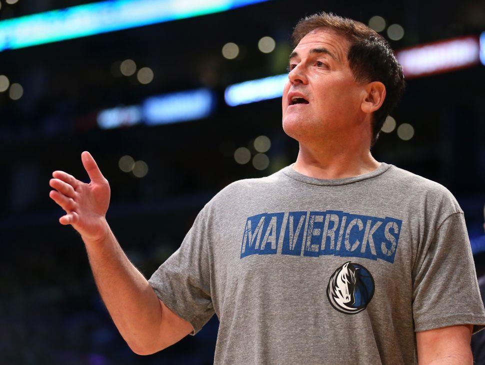 Dallas Mavericks' owner Mark Cuban.