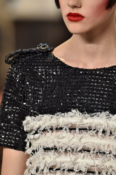 Details on a Chanel Couture creation (Photo: Victor Virgile/Gamma-Rapho via Getty Images).