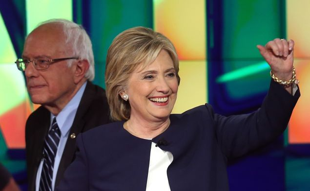 Hillary Clinton and Sen. Bernie Sanders. (Photo: by Joe Raedle for Getty Images)