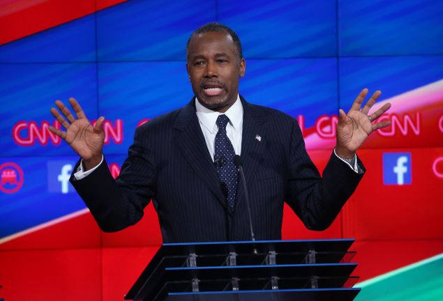 Ben Carson. (Photo by Justin Sullivan/Getty Images)