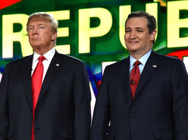 Donald Trump and Sen. Ted Cruz. (Photo by Ethan Miller/Getty Images)