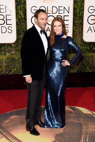 Julianne Moore in Tom Ford with Tom Ford, in Tom Ford (Photo: Getty Images).