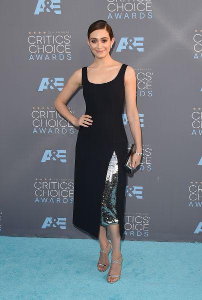 Emmy Rossum in Dior (Photo: Getty Images).