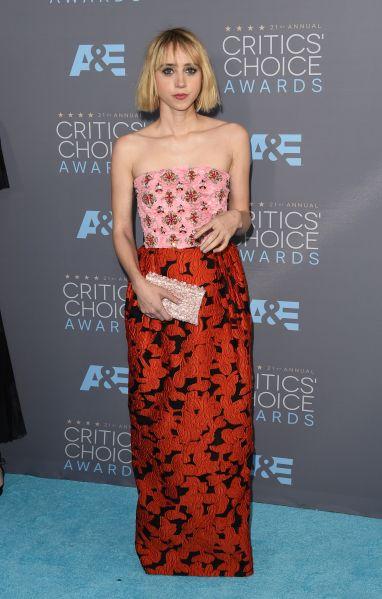 Zoe Kazan in Oscar de la Renta (Photo: Getty Images).