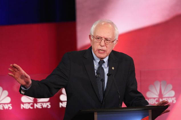 Sen. Bernie Sanders. (Photo by Andrew Burton for Getty Images)