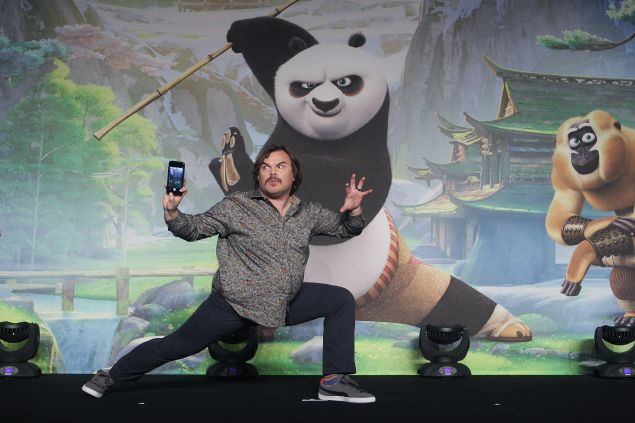 """attends the press conference for """"Kung Fu Panda 3"""" on January 21, 2016 in Seoul, South Korea."""