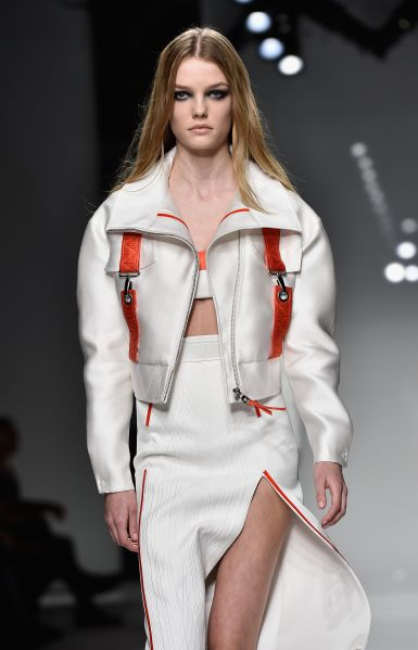 An athletic couture jacket (Photo: Pascal Le Segretain/Getty Images).