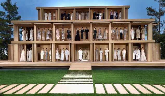 The complete Chanel Couture lineup (Photo: Getty Images).